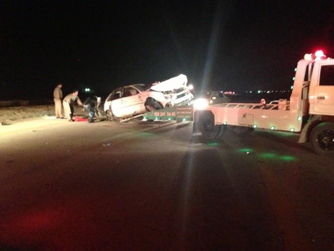 مصرع شخصين وإصابة إثنان اخران في حادث بالقرب من ميدان الفروسية بالخفجي
