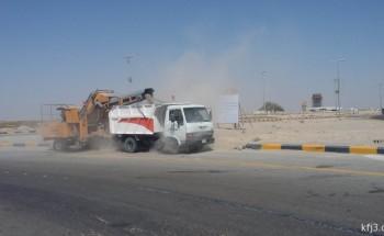 بلدية الخفجي تستأنف حملات النظافة وتزل 7200م3 من مخلفات البناء