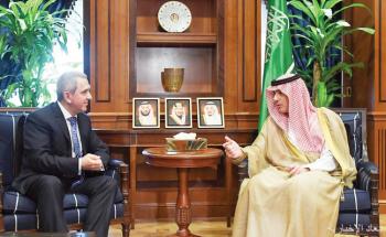 الجبير يستقبل سفراء مصر وإيطاليا وأذربيجان