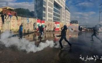 احتجاجات أمام البنك المركزى فى لبنان واشتباكات بين أنصار الوطنى الحر والاشتراكى