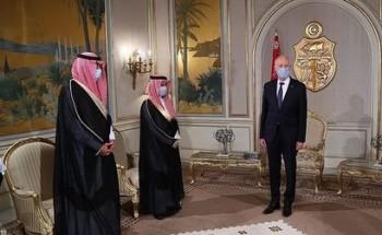 / الرئيس التونسي يستقبل سمو وزير الخارجية ويستعرضان العلاقات بين البلدين والأوضاع الدولية والإقليمية