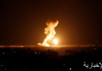قصف إسرائيلى يستهدف عدة مواقع فى قطاع غزة