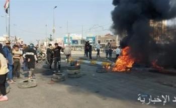 إصابة العشرات من المتظاهرين والقوات الأمنية خلال مواجهات فى ذى قار بالعراق