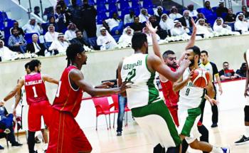 منتخب السلة إلى النهائي الخليجي بعد تجاوز البحرين