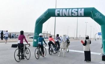 جمجوم تتوج بكأس سباق السيدات الأول للدراجات 2021م