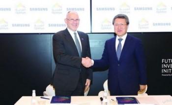 """شركة القدية للاستثمار توقع اتفاقية مع """"سامسونغ"""" لتصمم المجمع الرياضي"""