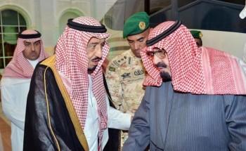 خادم الحرمين الشريفين يصل إلى الرياض قادما من روضة خريم