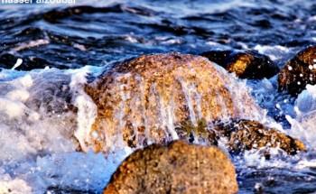 عدسة أبعاد الخفجي ، صخور كورنيش الخفجي ، تصوير – ناصر الزعبي