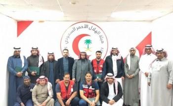 مدير فرع الهلال الأحمر بالباحة يتفقد وحدة تدريب محافظة بلجرشي
