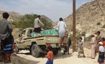 مركز الملك سلمان للإغاثة يوزع أكثر من 22 طنًا من السلال الغذائية في مديرية رازح بمحافظة صعدة