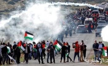 إصابات جراء قمع قوات الاحتلال الإسرائيلي مسيرة كفر قدوم الفلسطينية