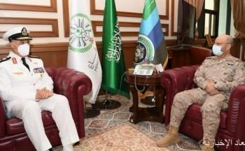 رئيس هيئة الأركان العامة يستقبل قائد القوات البحرية المصرية