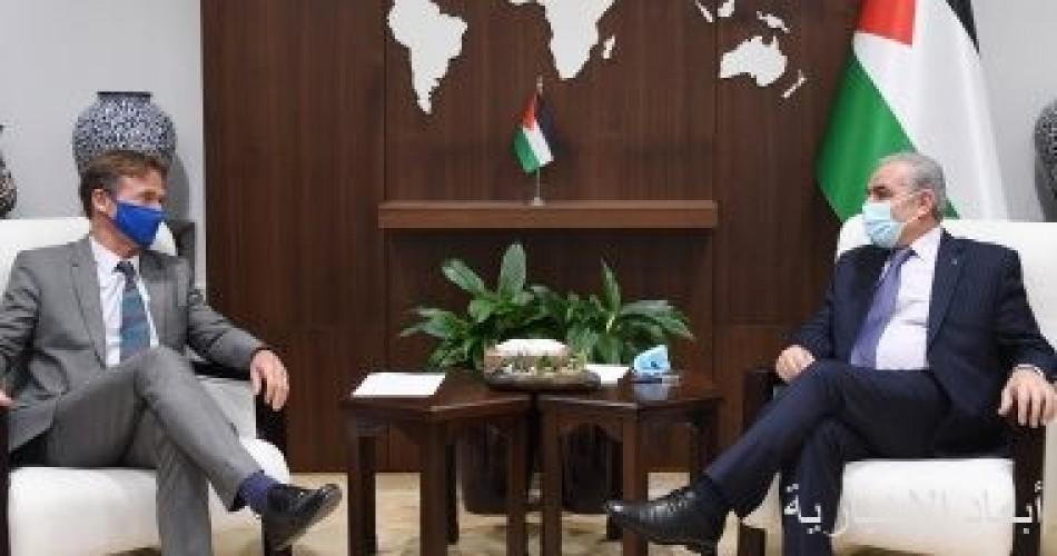رئيس وزراء فلسطين يطالب أوروبا بالضغط على إسرائيل وعقد الانتخابات فى القدس