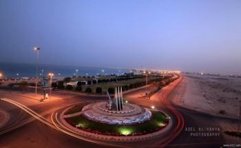 عدسة أبعاد الخفجي – دوار الكورنيش , تصوير – عادل اليحياء