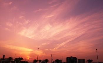عدسة أبعاد الخفجي – غروب شمس الخفجي , تصوير – ناصر الزعبي