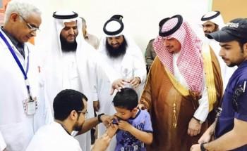 انطلاق الحملة الوطنية للتطعيم ضد أمراض الحصبة في مدارس الخفجي