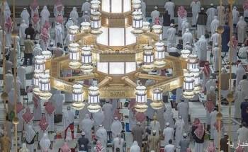 120 ألف وحدة إنارة تشع بأضوائها في أرجاء المسجد الحرام وساحاته وسطحه ومناراته