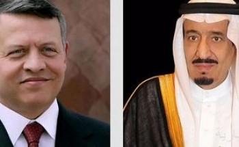 خادم الحرمين الشريفين يعزي ملك الأردن في وفاة الأمير محمد بن طلال – رحمه الله –