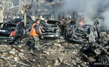 ثلاثة قتلى إثر سقوط قذائف فى أحد أحياء دمشق