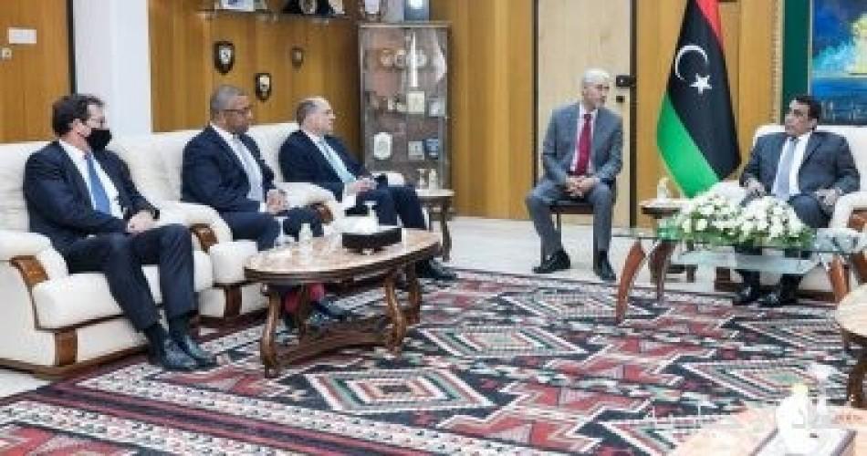 رئيس المجلس الرئاسى الليبى يبحث مع وفد بريطانى توحيد المؤسسات وإجراء الانتخابات