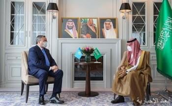 سمو وزير الخارجية يلتقي نائب رئيس مجلس الوزراء وزير خارجية كازاخستان