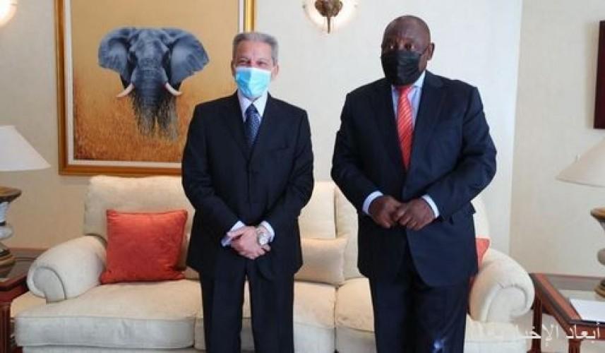 رئيس جمهورية جنوب أفريقيا يستقبل وزير الدولة لشؤون الدول الأفريقية