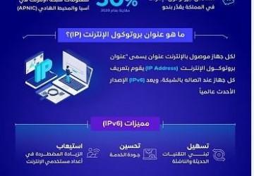 المملكة ضمن أعلى 10 دول في استخدام الإصدار السادس لبروتوكول الإنترنت (IPv6)