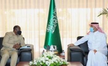 الرئيس التنفيذي للصندوق السعودي للتنمية يستقبل سفير جمهورية غانا