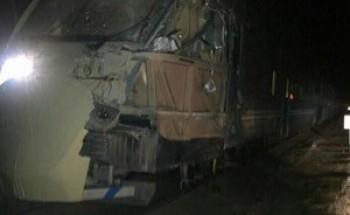 """حادثة القطار .. نجاة 132 راكبا .. ووفاة قائد """" الشيول"""" المعترض"""