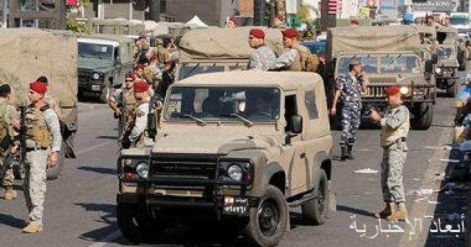 الجيش اللبنانى: دورية عسكرية تتعرض لاعتداءات من متظاهرين أثناء فتح طريق مغلق