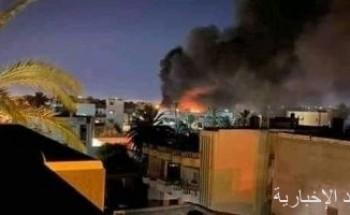 7 غارات جوية على مواقع لكتائب الوفاق شرق طرابلس