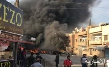 قتلى وجرحى من جيش الاحتلال جراء انفجار سيارة مفخخة بريف رأس العين