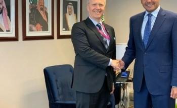 الدكتور منزلاوي يلتقي بنائب مندوب مملكة النرويج لدى الأمم المتحدة