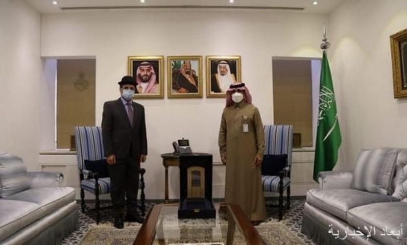 وكيل وزارة الخارجية لشؤون المراسم يودع سفير العراق لدى المملكة