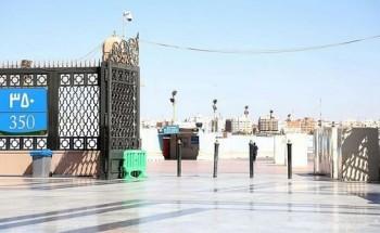 اكتمال المرحلة الأولى لمشروع تغيير لوحات سور المسجد النبوي ومحيطه
