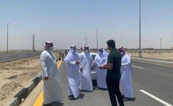 بلدية الخفجي والمجلس البلدي يتفقدان مشاريع السفلتة لافتتاح الطرق الرئيسية بالمحافظة