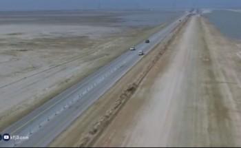 بالفيديو: طريق الخفجي أبو حدرية.. سنوات من المعاناة