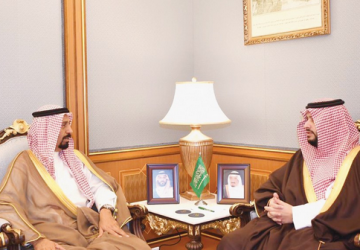 تركي بن محمد بن فهد يستقبل سفير الكويت