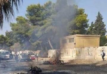 قصف تركى لمخيم عين عيسى والطريق الدولى شمال سوريا