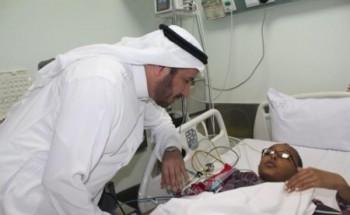"""الربيعة يزور الأطفال مصابي حادث """"مدينة ملاهي بانوراما"""" الرياض"""