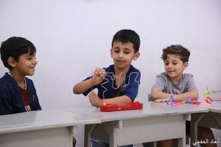 فعاليات حركية وذهنية في نادي القيم الصيفي بإبتدائية الشرق بالخفجي