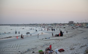 شاطئ الخفجي ، عدسة – شاير الشمري