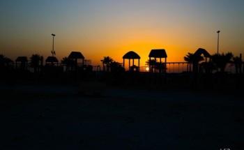 غروب شمس العيد – عدسة شاير الشمري