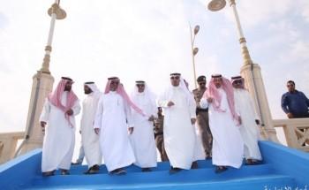 بالصور.. الهزاع يفتتح الواجهة البحرية الجديدة بمحافظة الخفجي