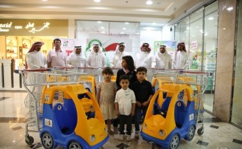 """""""الجمعية الإستهلاكية"""" بالخفجي تطلق مبادرة «عربتي» لصالح جمعية الأطفال المعوقين"""