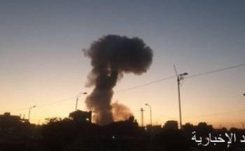 انهيار مبنى جراء انفجار داخل قاعدة سبايكر بمحافظة صلاح الدين العراقية