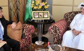 سفير المملكة بمصر يلتقي نظيره الصيني