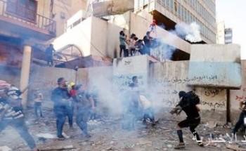 اشتباكات وأعمال عنف فى مظاهرات العراق ببغداد