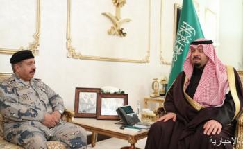 سمو أمير منطقة الحدود الشمالية يستقبل مدير عام حرس الحدود