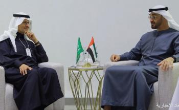 ولي عهد أبوظبي يلتقي سمو وزير الطاقة